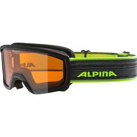 Alpina Scarabeo Doubleflex S2 Goggles Børn, black-neon